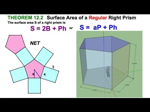 Surface Area of Regular Right Prism / 12.2