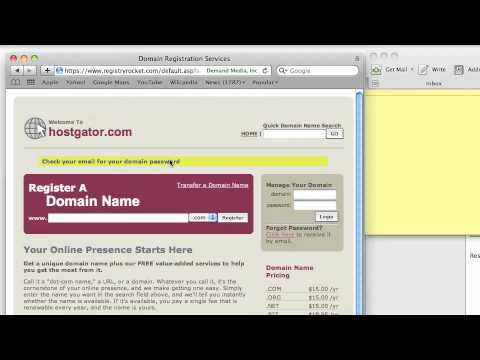 Name Servers (DNS) set up with HostGator