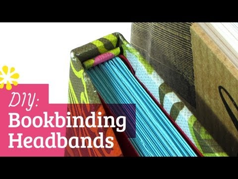 How to Make Your Own Book Headbands