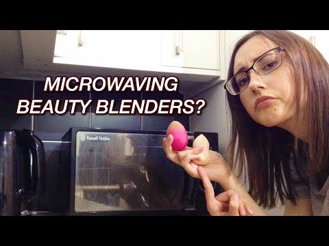 CLEANING MY BEAUTY BLENDERS IN THE MICROWAVE? | Shannon Coe