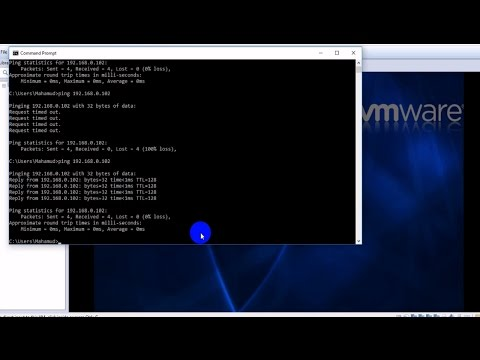 How To Ping Physical Machine To Virtual Machine In VMware Workstation [Bangla Tutorial ]