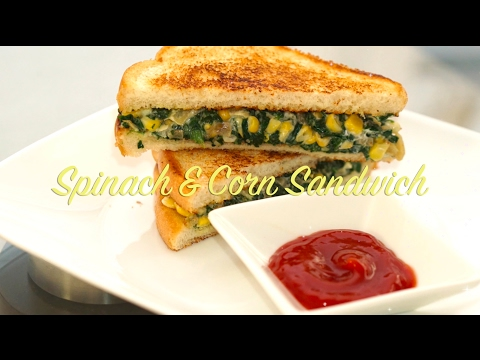 Spinach & Sweet corn sandwich (with Eggless Mayonnaise)