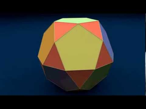 Make 3D Solid Shapes - Icosidodecahedron / Икосододекаэдр