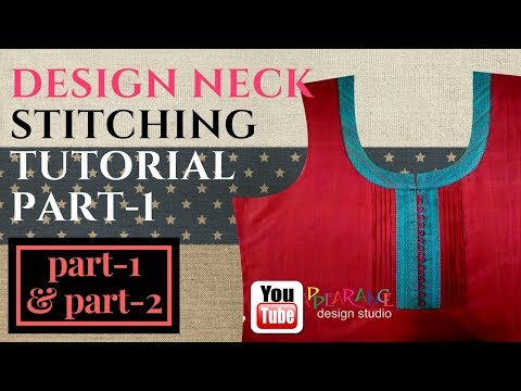 u neck cutting and stitching with loop and button-part-1