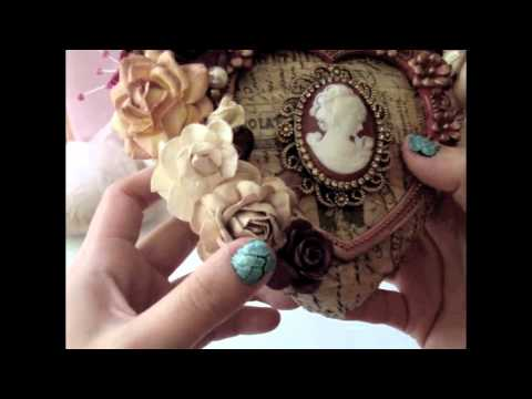 Paper Mache Vintage Heart Jewelry Box - How to