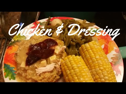 MY CHICKEN AND DRESSING RECIPE
