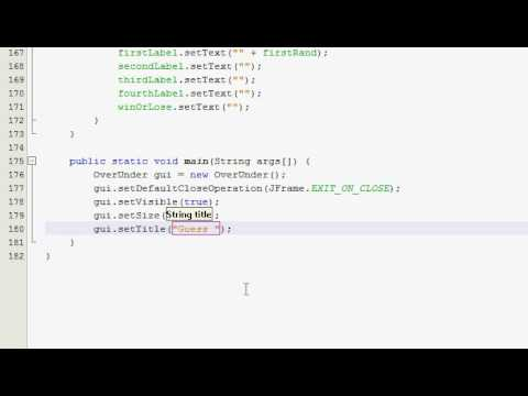 Java GUI Tutorial 27 - Higher/Lower guessing game (Part 4 of 4)