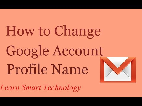How to Change Google Account Profile Name