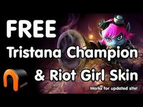 how to take free skins ( riot girl tristana )