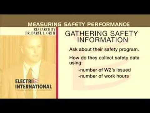 Research Project - Measuring Safety Performance