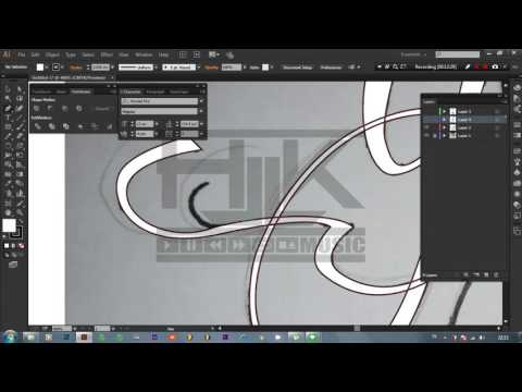 tutorial illustrator tracing font