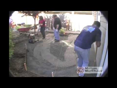 DIY Patio Paver Instruction:  Laying the Base Foundation