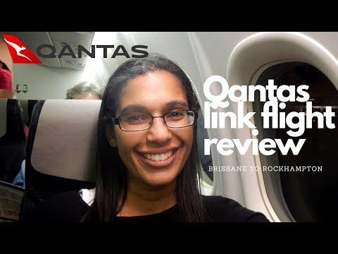 On board QantasLink flight Brisbane to Rockhampton | flying regionally in Australia