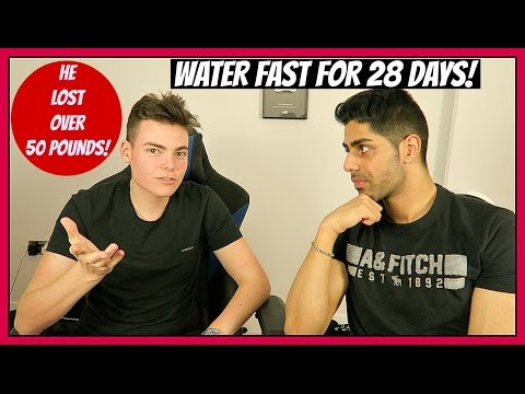 28 DAYS DRINKING ONLY WATER (NO FOOD!) w/ TheProGamerJay