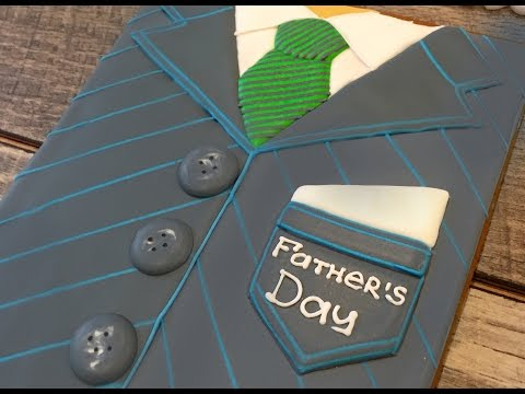 Father's Day:  DAD in a FORMAL SUIT COOKIE DECORATION by TaleCookies