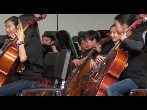 Elysha's Playing Cello at Kennedy Middle's String Concert - 12/5/2013