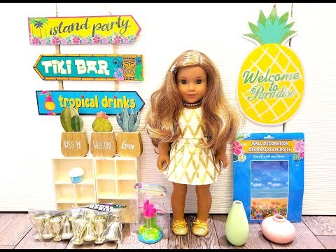 DOLLAR TREE FINDS FOR AMERICAN GIRL DOLLS- SPRING ITEMS