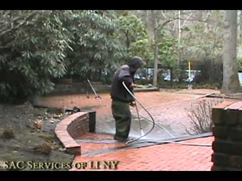 Roof Cleaning and Brick Patio Power Washing