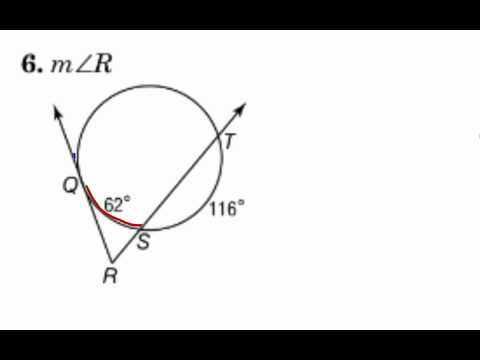 Geometry 10.6 Secants, Tangents, and Angle Measures