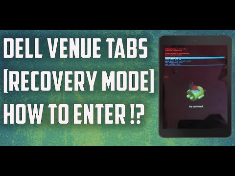 How To Boot/Enter Dell Venue 7 In Recovery Mode  | 2017