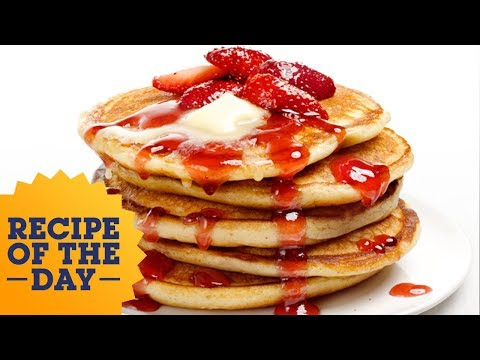 Recipe of the Day: Almost-Famous Cheesecake Pancakes | Food Network