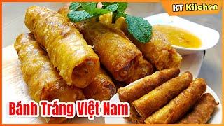 ChẢ GiÒ - Bí Quyết Giòn Tan - Để Lâu Vẫn Giòn [ Công Thức Nhà Hàng ] Vietnamese Eggroll Recipe