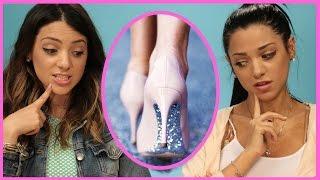 NikiAndGabiBeauty DIY Glitter High Heels | Niki and Gabi DIY or DI-Don