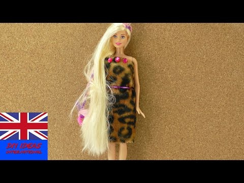 How to make a Barbie dress in 5 minutes! | Cool outfit for Barbie | DIY Fashion Idea
