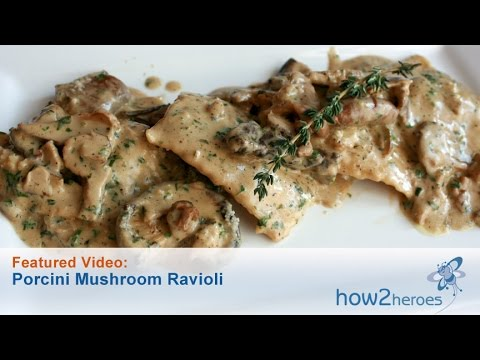 Porcini Mushroom Ravioli