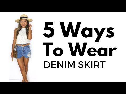 5 Ways to Wear the Denim Skirt | Summer Style