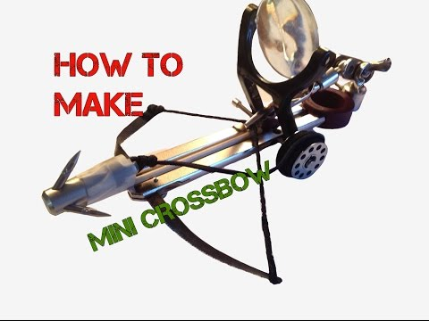 How to Make Office Supplies Mini Crossbow