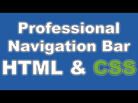 How to Build a Website #3 - Creating a Professional Navigation Bar [HTML & CSS Tutorial]