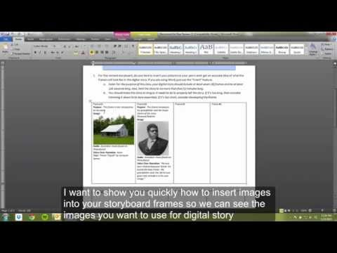 How to Insert Pics into Storyboard in Word