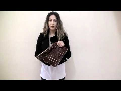 Handle Bag to Handle Clutch with leather strap
