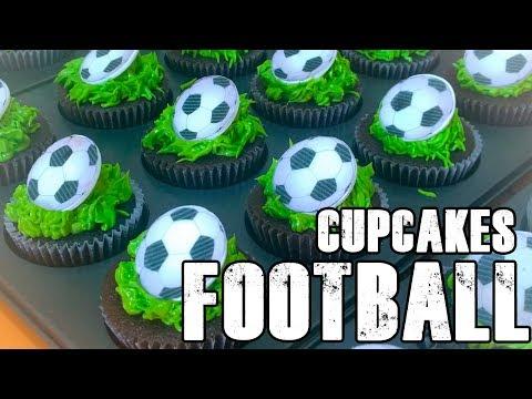 CUPCAKES de FUTBOL Paso a Paso ⚽ Decoración de CUPCAKES   How to A FOOTBALL Cupcakes!