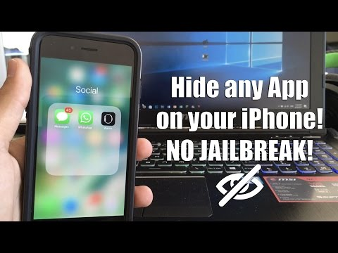 Hide any App on your iPhone! NO JAILBREAK!