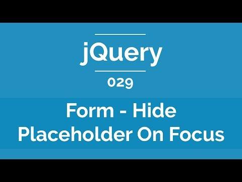 Arabic jQuery Practical Course #029 - Form - Hide Placeholder On Focus