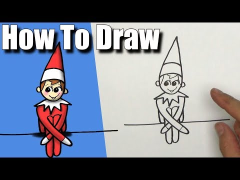How To Draw Elf on the Shelf! - EASY - Step By Step