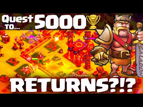 Clash of Clans ♦ The Quest to 5000 Trophies RETURNS?  ♦ CoC ♦