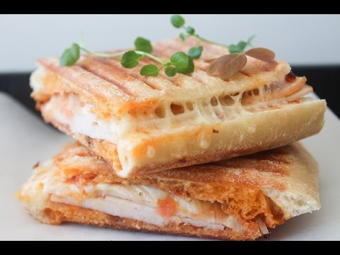 How To Make Chicken, Tomato Pesto And Cheese Panini - By One Kitchen Episode 430