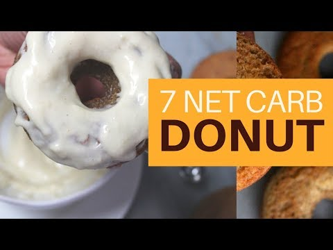 ICED KETO DONUT   7 NET CARBS W/ICING   VANILLA ICING   THICK-IT-UP   #ketogenicdiet   #paleo  