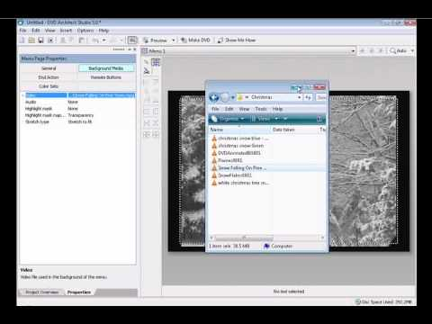 Learn How To Make a DVD Motion Menu & Motion Background Using Sony DVD Architect