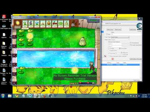how to use cheat engine with plants vs zombies infinite sun no reloading