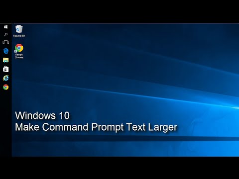 Windows 10 -  Make Command Prompt Text Larger