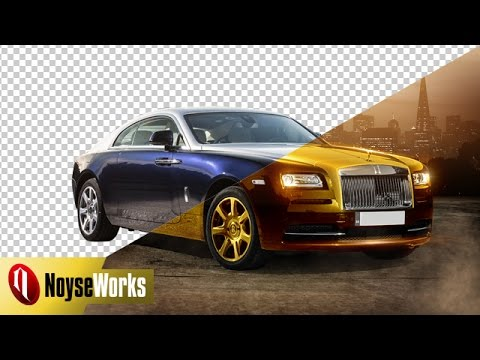 How to change a car color into gold in Photoshop