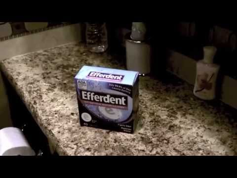 Use Efferdent to keep your RV Toilet smelling fresh and clean.