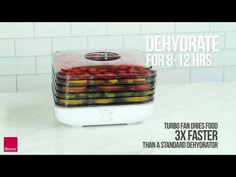 Ronco Turbo Food Dehydrator - Healthy, Homemade Snacks