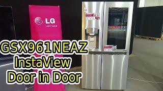 LG Food Center Side by Side GSX961NEAZ / GSK6676SC, InstaView (Knock Knock), Door in Door, Wifi