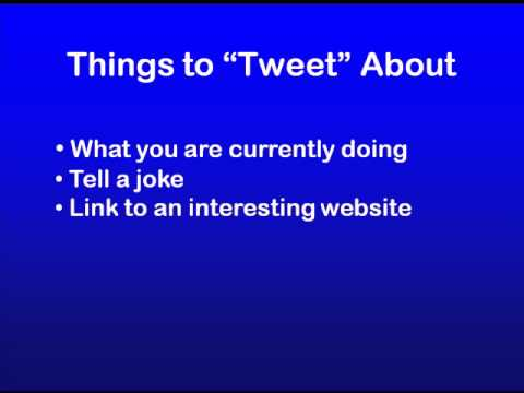 Ideas For Your First Tweet