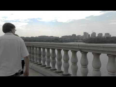 Walking across the Arlington Memorial Bridge, Washington, D C